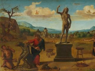 Prometheus Fashioning the First man, c. 1510