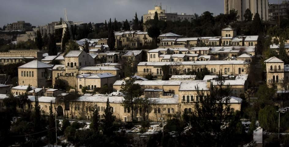 La nieve llega a Israel y Palestina