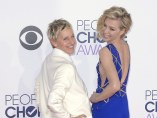 Ellen DeGeneres y Portia de Rossi en los People's Choice Awards