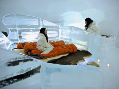 Habitación de hotel bajo cero