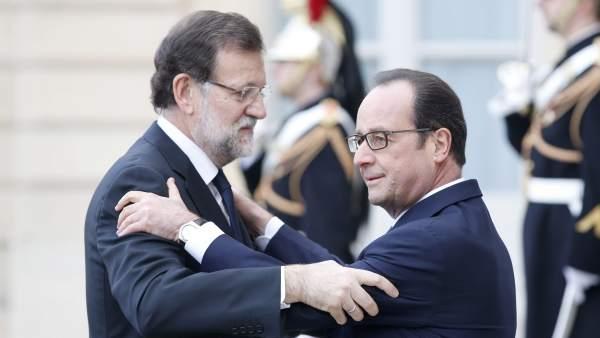 Rajoy y Hollande