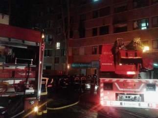Incendio en Pinar de Chamartín