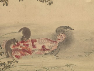 Kusozu: the death of a noble lady and the decay of her body (sixth of nine)
