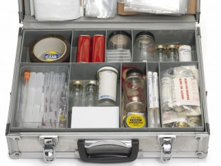 Scene of Crime forensic kit. Credit: Metropolitan Police, Heritage Centre. (Features in Forensics: the Anatomy of Crime, Wellcome Collection)