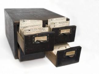 Index cards belonging to Bernard Spilsbury, c. 1905-1933