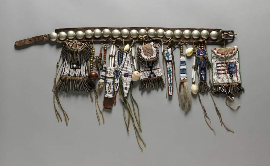 Girl's Belt Set, Southern Cheyenne artist, Oklahoma, ca. 1884