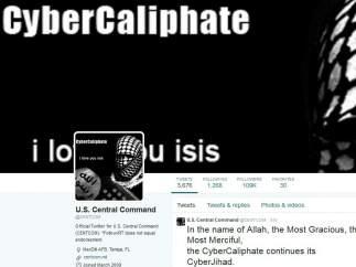 Cuenta 'hackeada' del Mando Central de EE UU