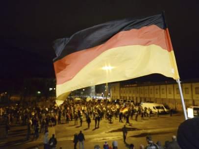 Protesta de PEGIDA en Alemania