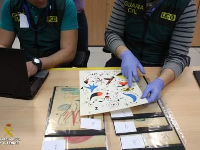 Arte falsificado intervenido por la Guardia Civil