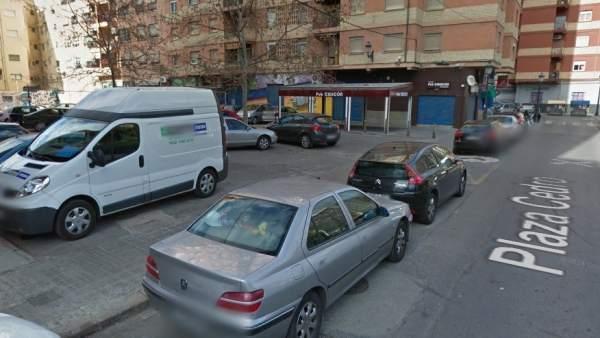 Pza. del Cedro, en Valencia