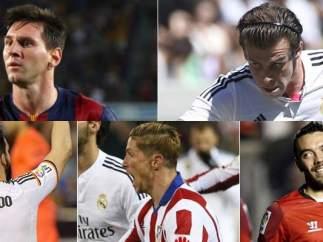 Messi, Bale, Negredo, Torres y Aspas