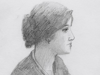 Pencil Sketch of a Woman Sent from Death Row, Georgia Department of Corrections