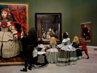 'Las Meninas renacen de noche IV: Peering at the secret scene behind the artist', 2013