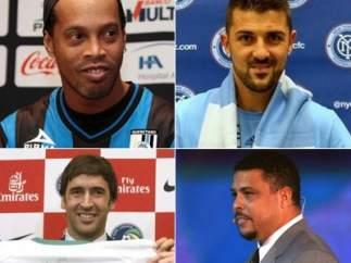 Ronaldinho, Villa, Raúl y Ronaldo