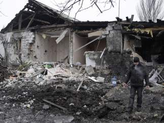 Bombardeo en Donetsk