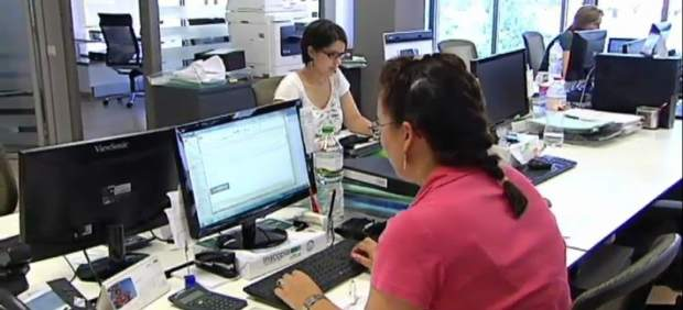 Mujeres en su puesto de trabajo