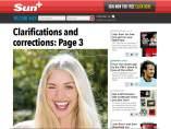 La página 3 vuelve a The Sun