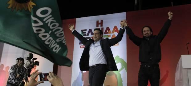 Pablo Iglesias y Alexis Tsipras