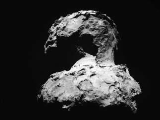 Nuevas imágenes del cometa que estudia Rosetta