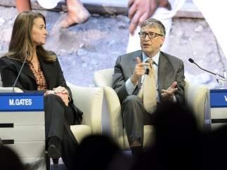 Bill Gates y su esposa
