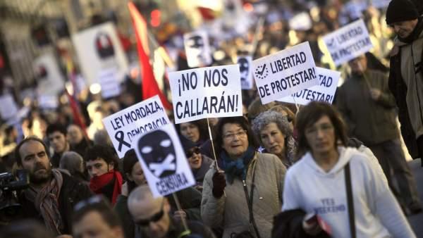 Marcha contra la 'ley mordaza'