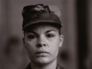 Judith Joy Ross, American (b. 1946). P.F.C. Maria I. Leon, U.S. Army Reserve, On Red Alert, Gulf War, 1990