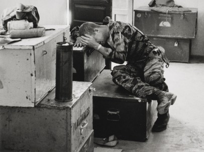 Larry Burrows, English (1926–1971). The mission over, Farley gives way, from Yankee Papa 13, 1965