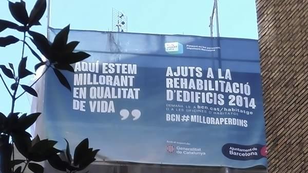 A Barcelona ha pujat la demanda de rehabilitació d'edificis i s'estan concedint més ajuts públics.
