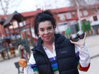 Yolanda Matarranz, oro mundialista en petanca
