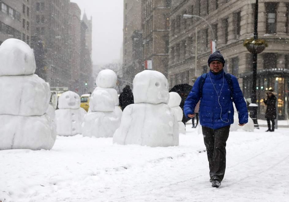 Tormenta de nieve en Nueva York