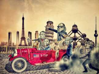 Ilustraci�n inspirada en el TTIP