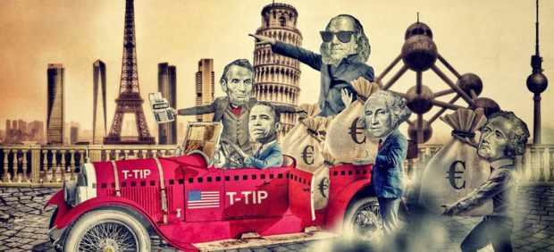 Ilustración inspirada en el TTIP