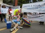 Protestas en Sao Paulo por la crisis hídrica