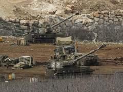 Bater�as israel�es en los altos del Gol�n