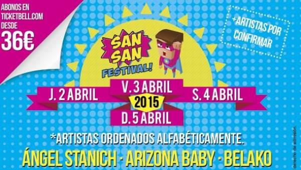 Cartel de la edición de 2015 del SanSan Festival