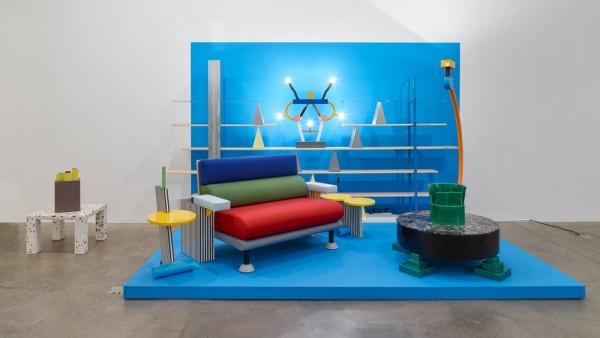 The Memphis Group (installation view, Koenig & Clinton, New York)