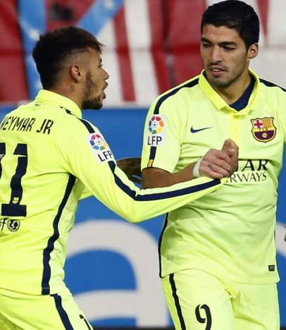 Neymar, Luis Su�rez y Messi