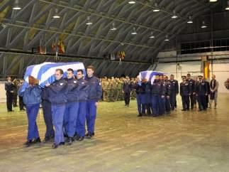 Homenaje a los fallecidos en el accidente de Los Llanos (Albacete).