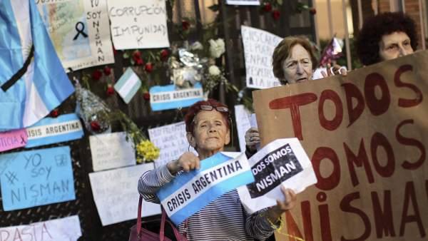 Velatorio de Alberto Nisman