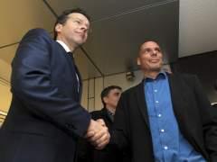 Jeroen Dijsselbloem y Yanis Varufakis