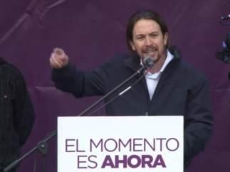 Pablo Iglesias cierra la marcha