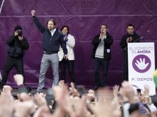 Pablo Iglesias, en el escenario