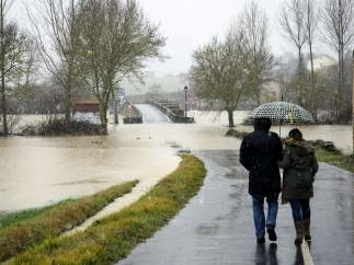 Camino inundado