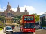 Un autobús turístic de Barcelona.