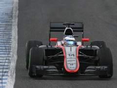 Fernando Alonso, en los test de Jerez.