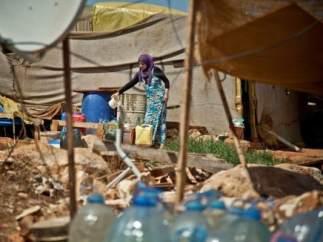 Campo de refugiados en Trípoli