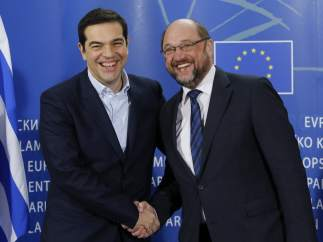 Martin Schulz y Alexis Tsipras