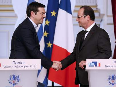 Tsipras y Hollande
