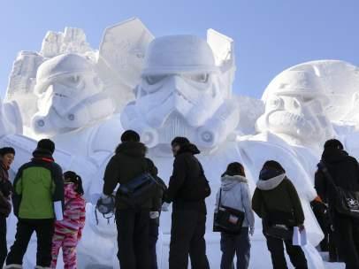 'Star Wars', escultura de nieve