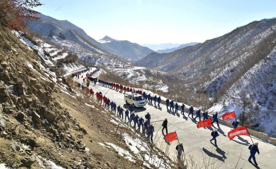 Marcha estudiantil en Corea del Norte
